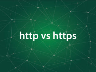 difference between http vs https concept where HTTPS is the secure version of HTTP vector